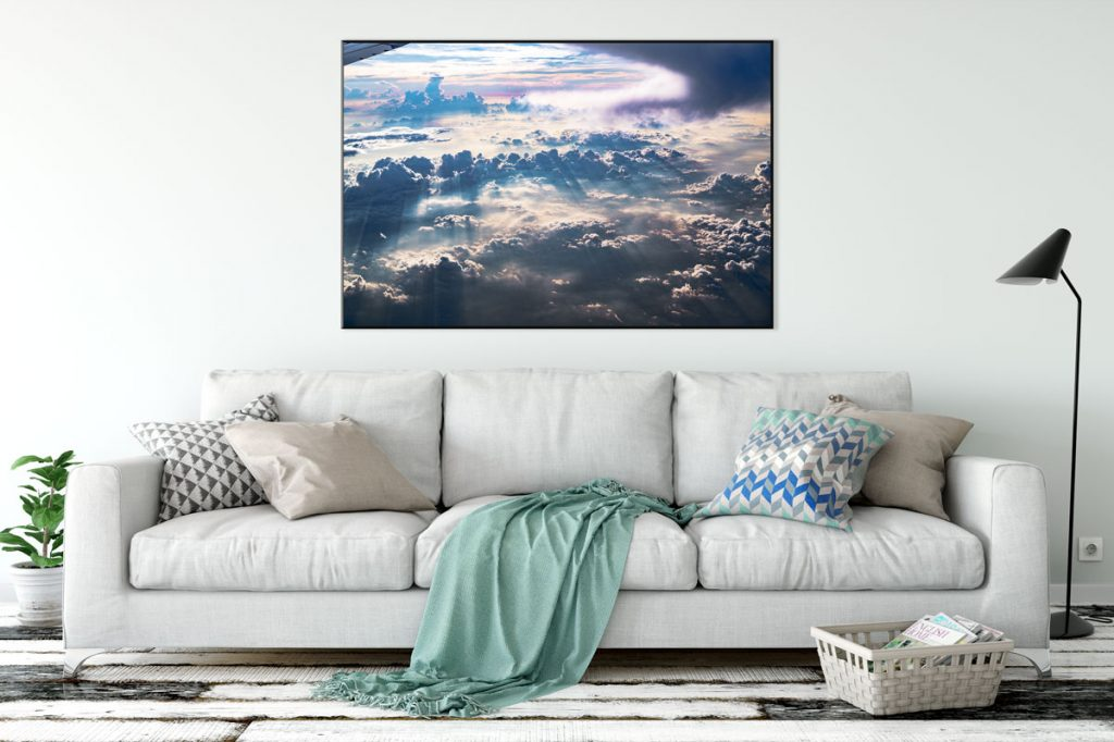 Above the Clouds print mockup