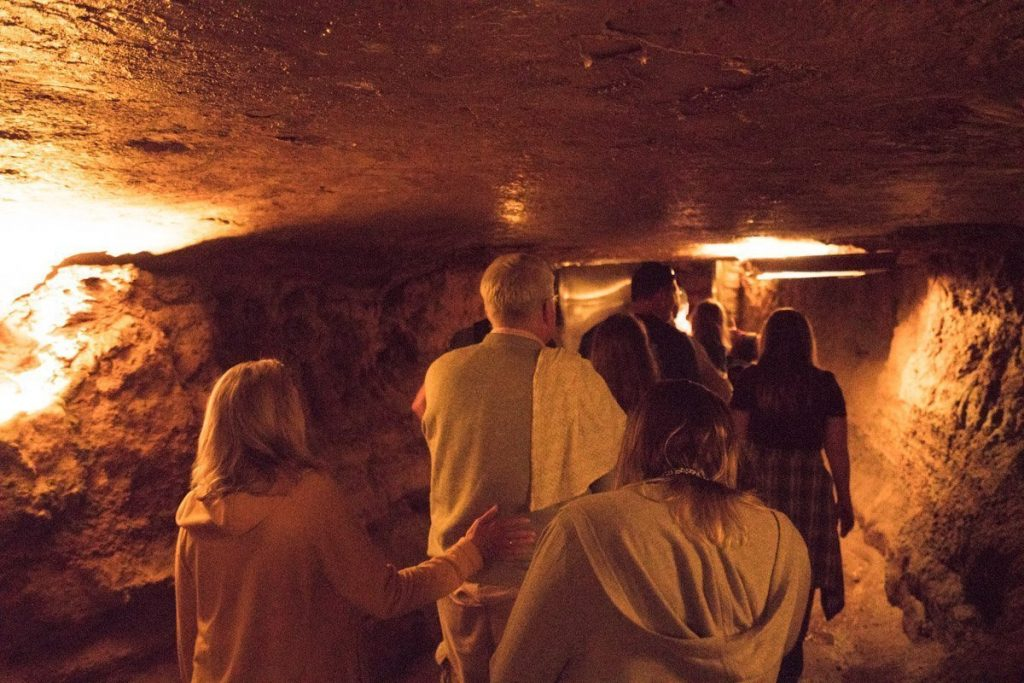 All of us walking through Marengo Cave
